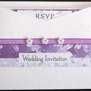Tiger Lily Pocket Invitation