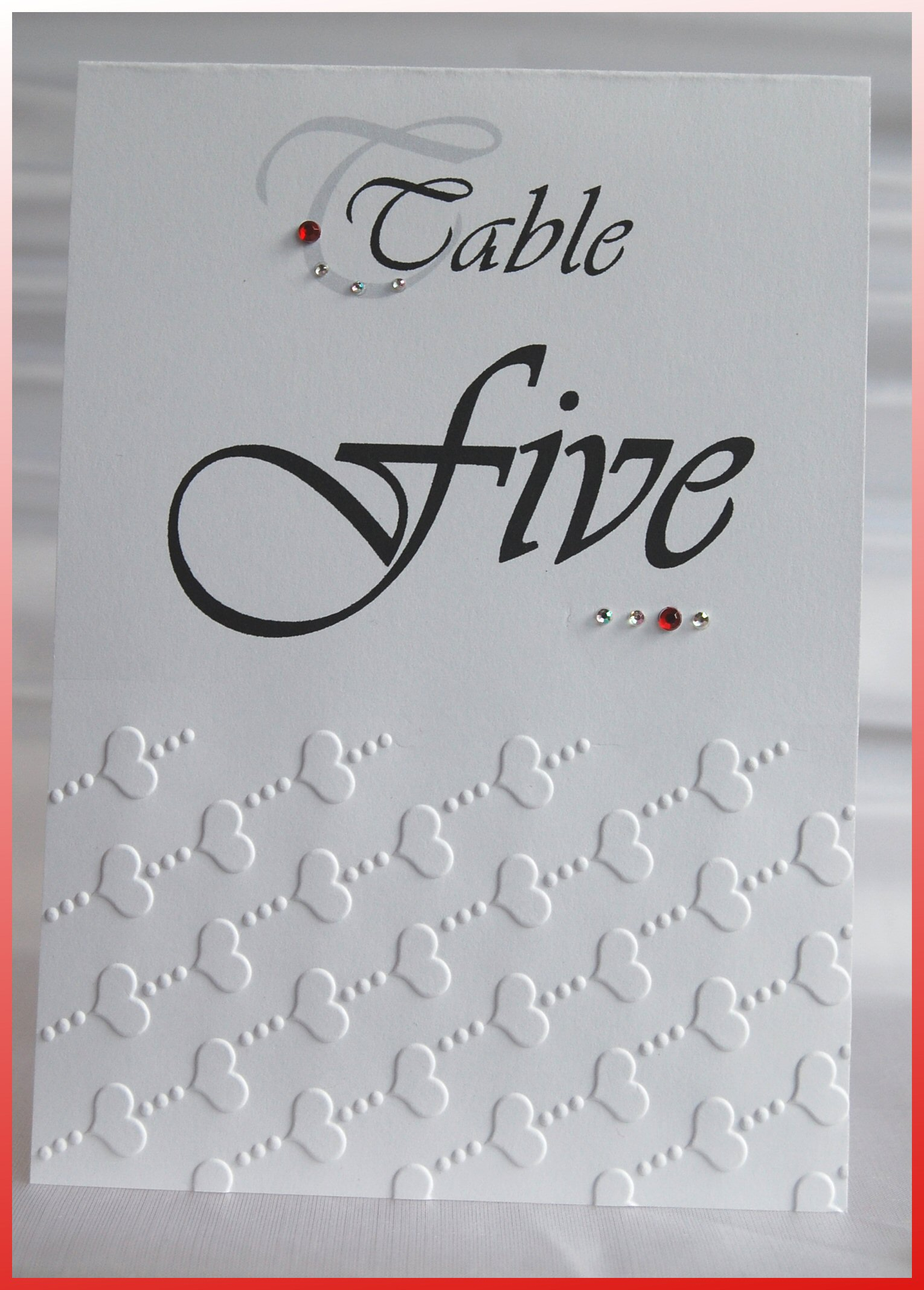 Love Heart Table Number