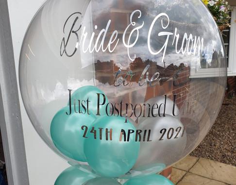 Bride & Groom bubble balloon