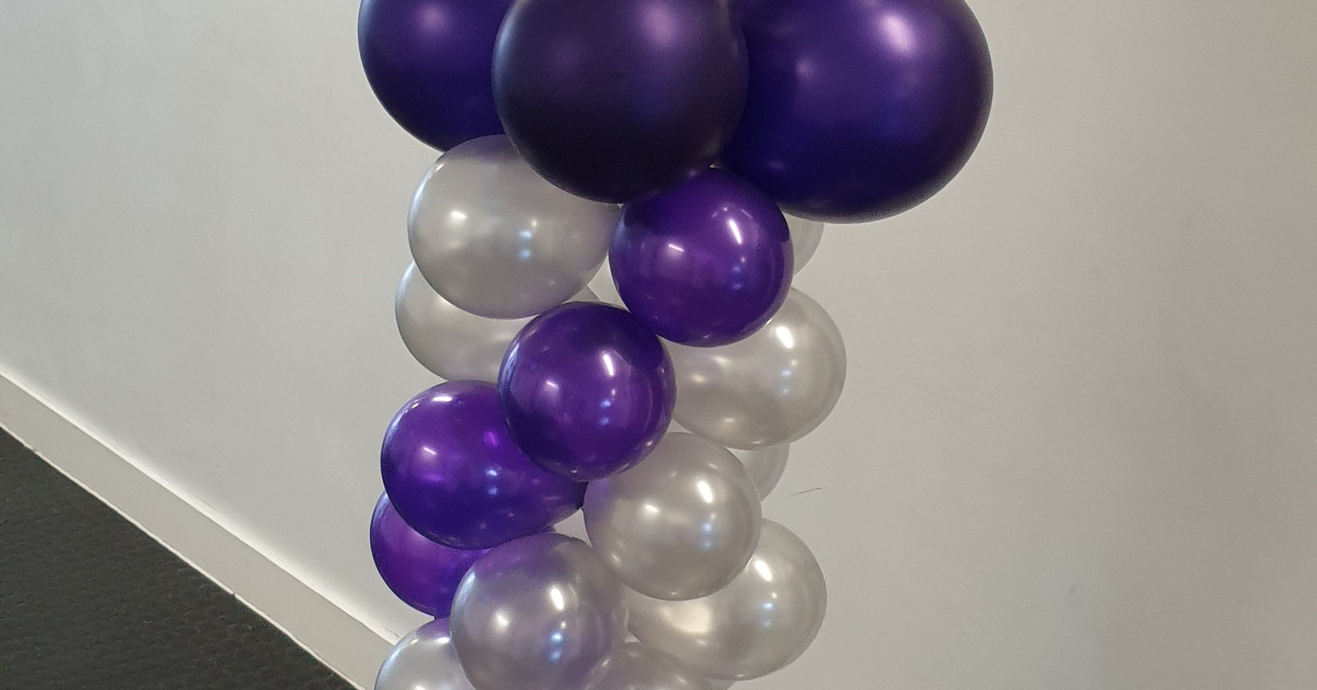 Purple & Silver Graduation bubble column