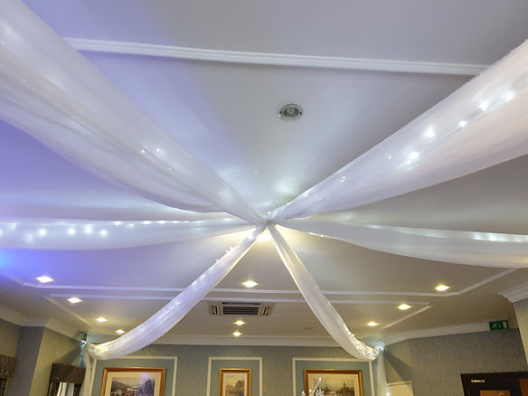 Twinkle ceiling swag & lights