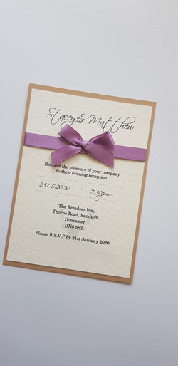 Simply Bow Postcard Invitation