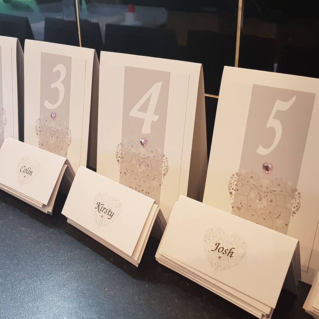 Ornate Heart Number & Name Card