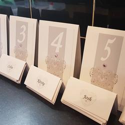 Ornate Heart Number & Name Card