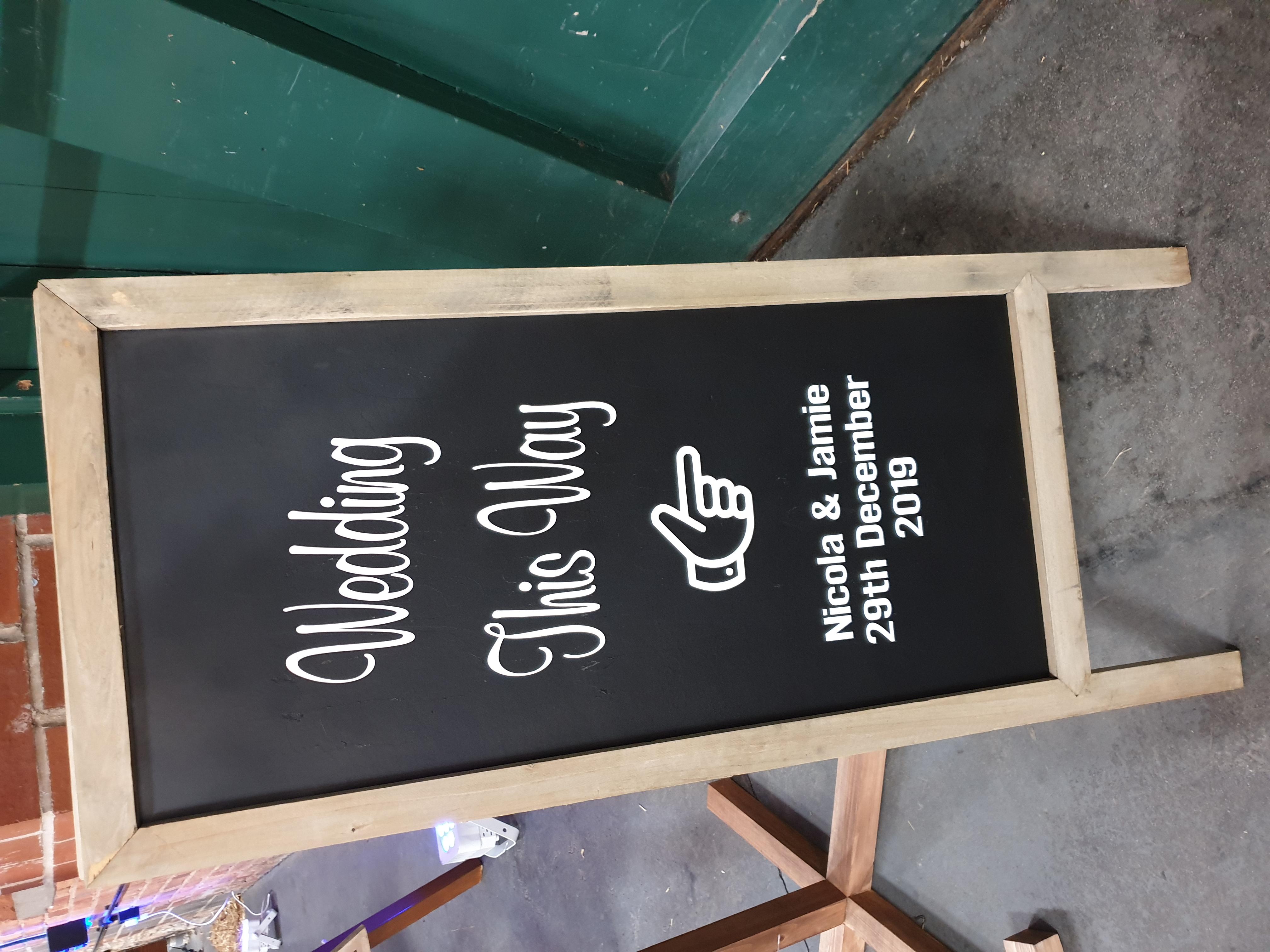 Chalkboard A4 frame