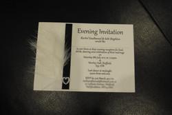 Diamante Feather Postcard Invitation