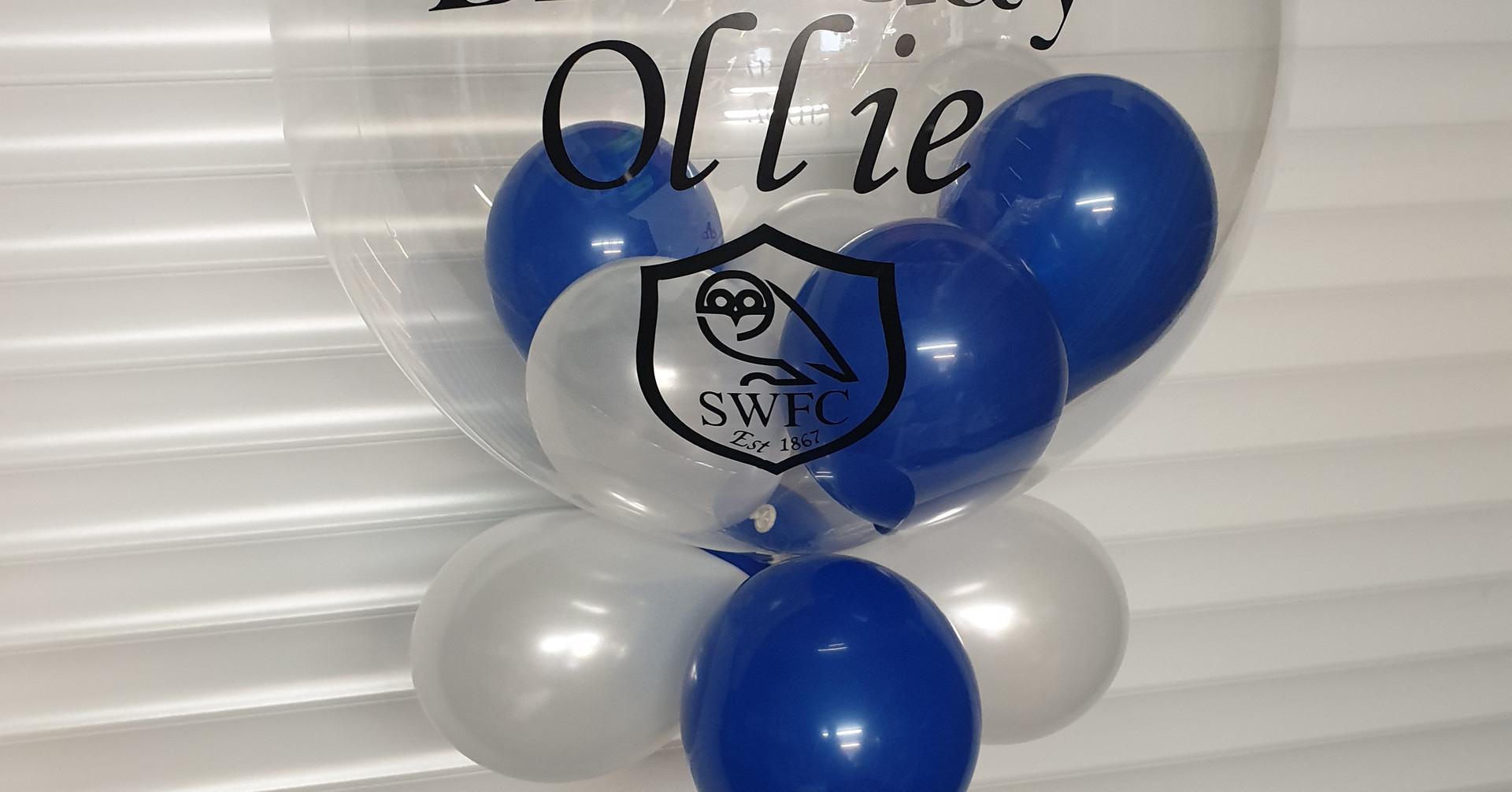 Sheffield united bubble balloon