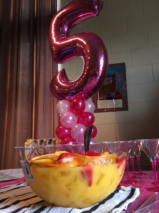 Pink Foil Number Balloon 5