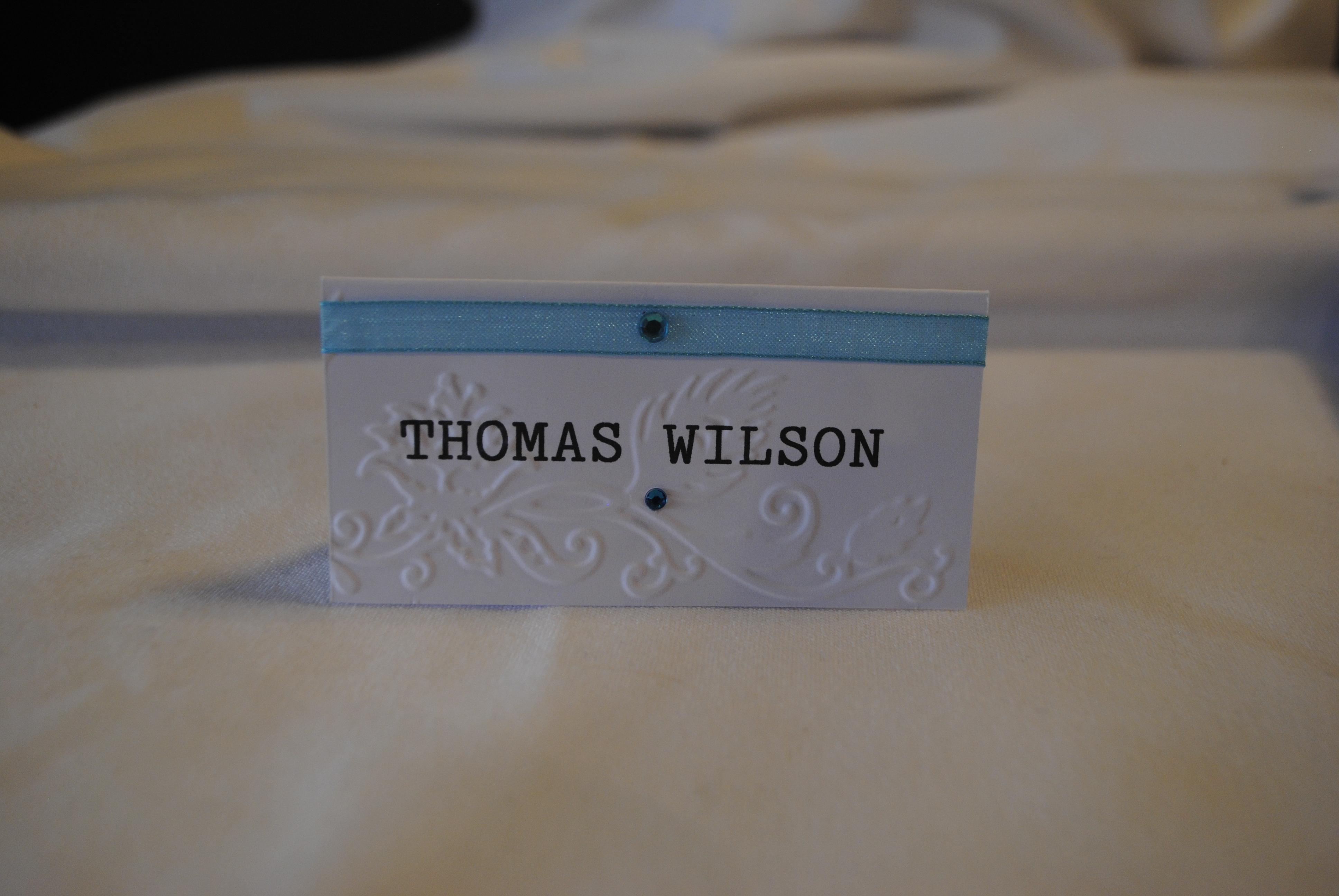 Elegant Peacock Name Card