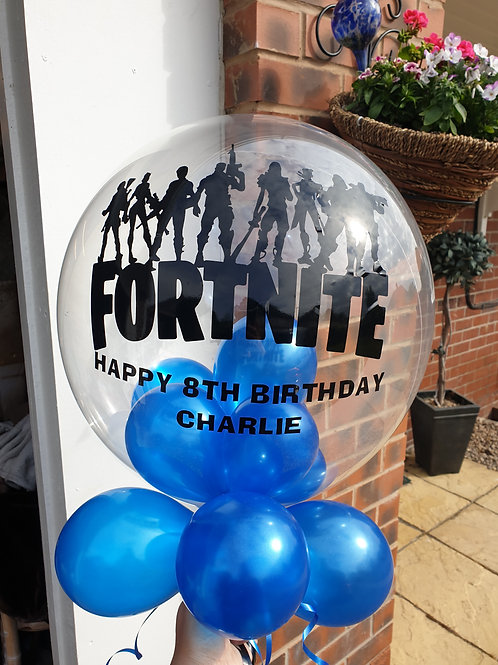 Fornite Bubble Balloon filled with mini balloons