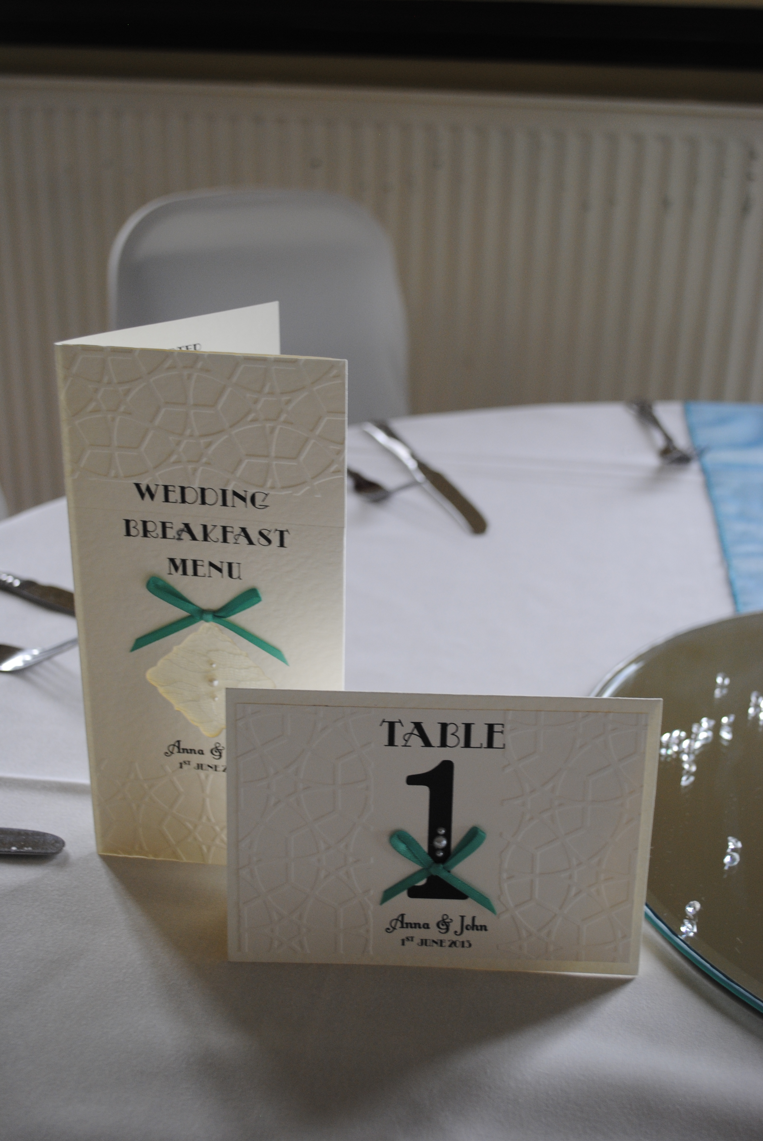 Lace Bow Menu & Name Card