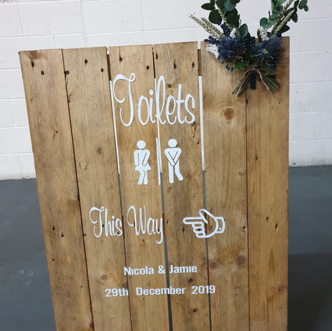 Rustic Board Freestanding Sign