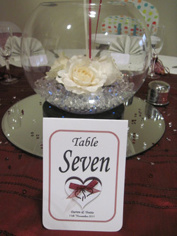 Entwined Table Number