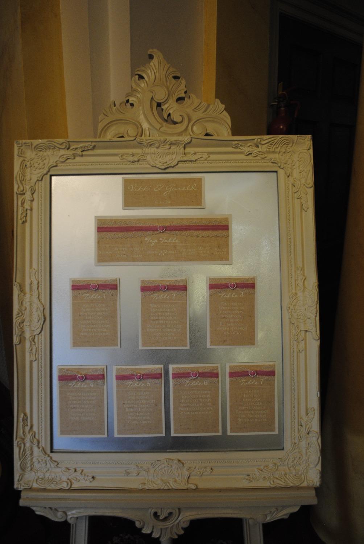 Burlap & Lace Table Plan