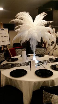 Ostrich Feather Centrepiece