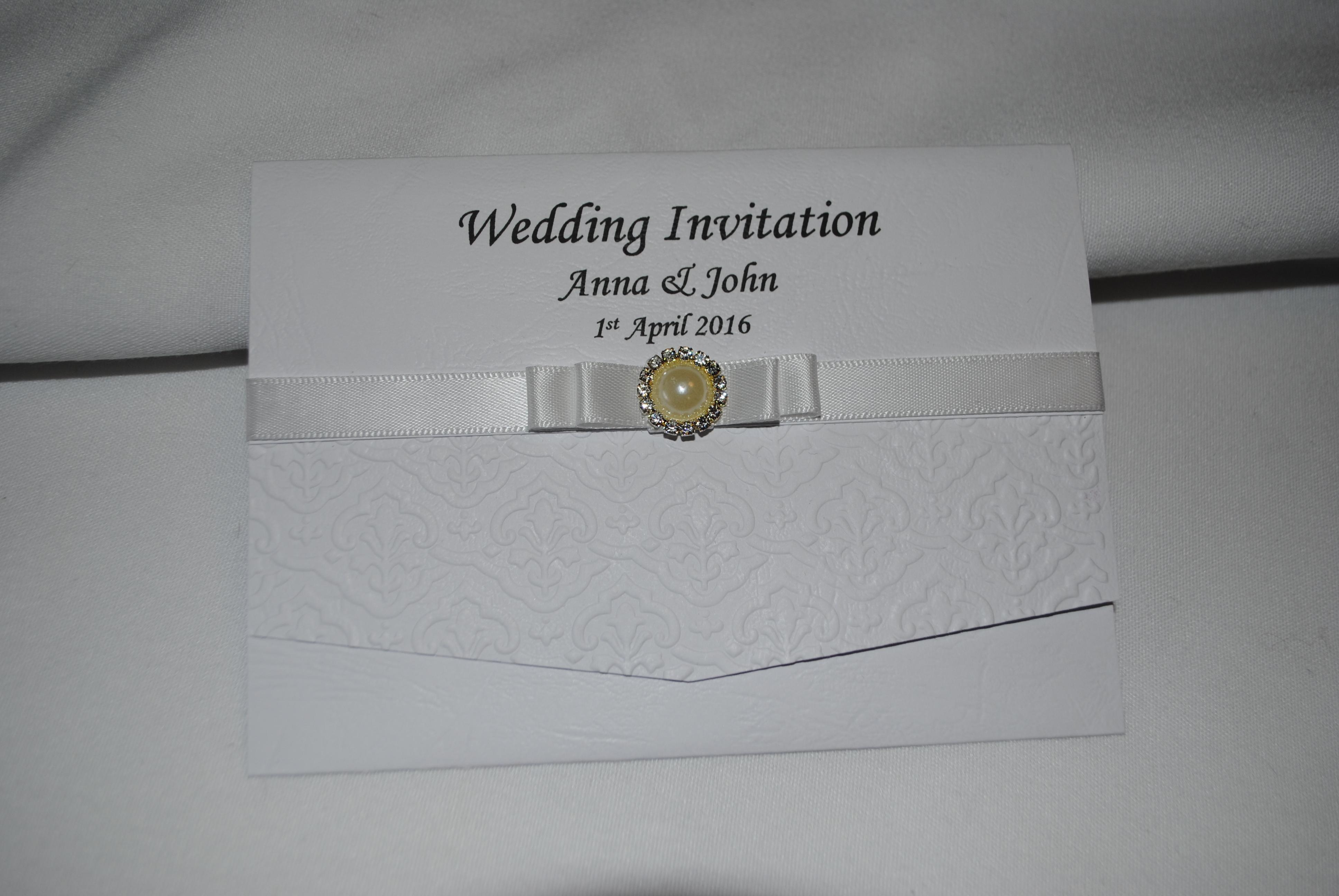 Dior Bow Pocket Fold Day Invitation