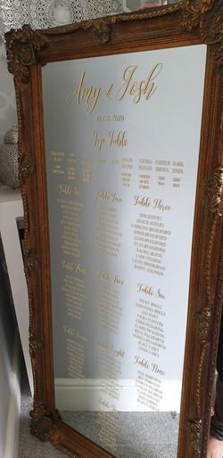Vinyl Table Plan on Brides Own Mirror