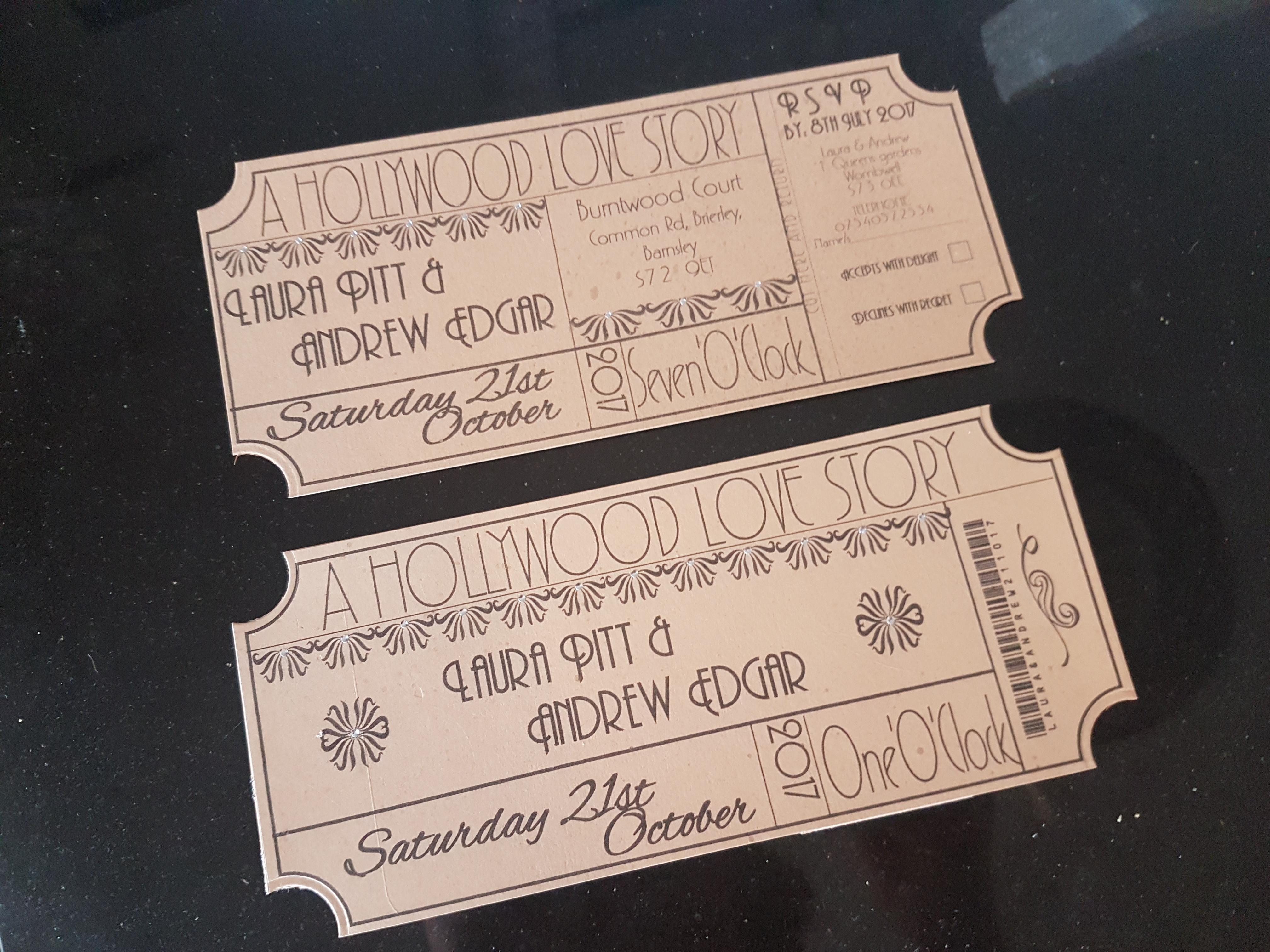 Art Deco DL Invitations