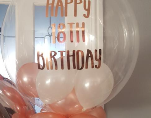 Roe gold bubble balloon