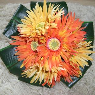 Artificial gerbera bridal bouquet