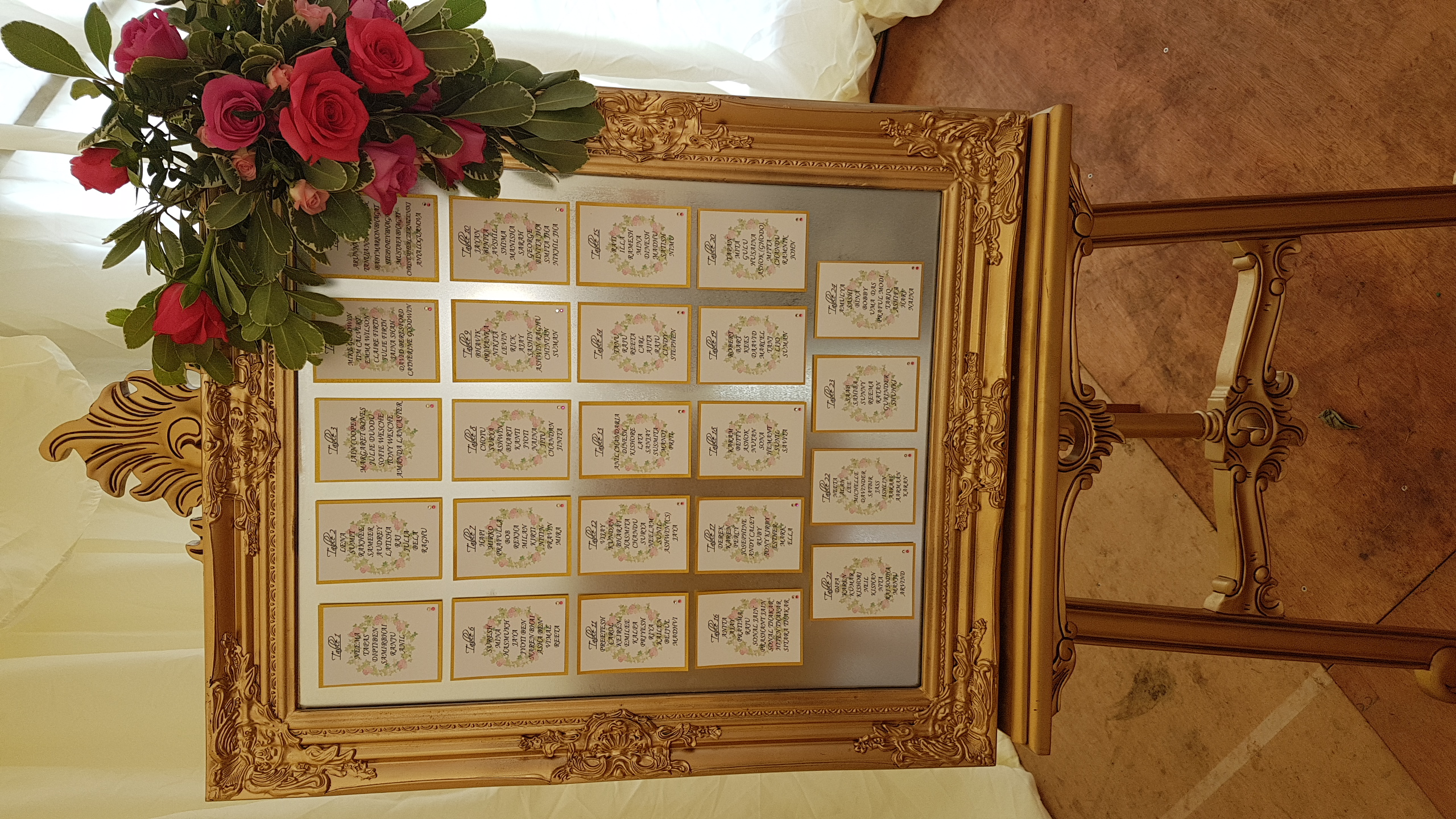 Floral Wreath Table Plan