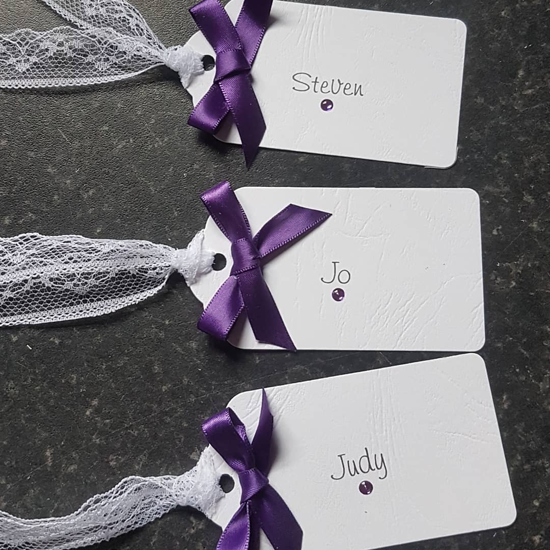 Simply Bow Luggage Tag Name Card