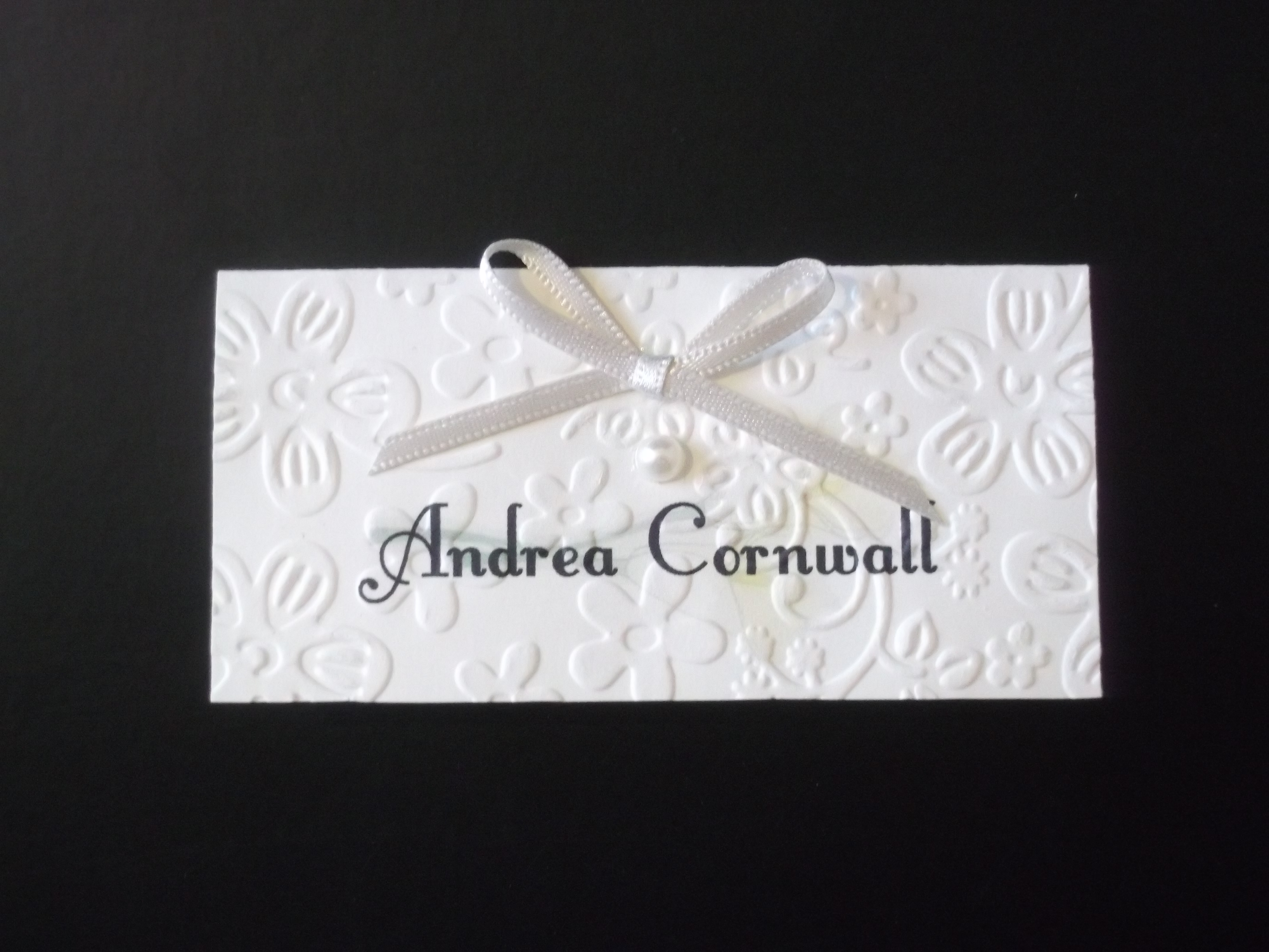 Calla Lace Name Card