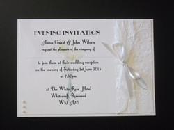 Calla Lace Postcard Invitation