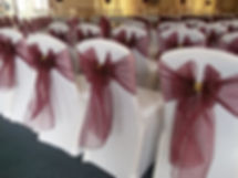 Chair cover & twinkle dot sash hire
