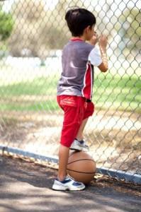 Kid Playing Bball
