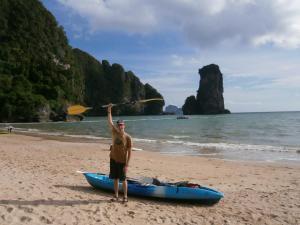 Kayaking in Railay Bay