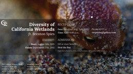"""Opening night reception of """"Diversity of California Wetlands"""" at the G2 Gallery"""