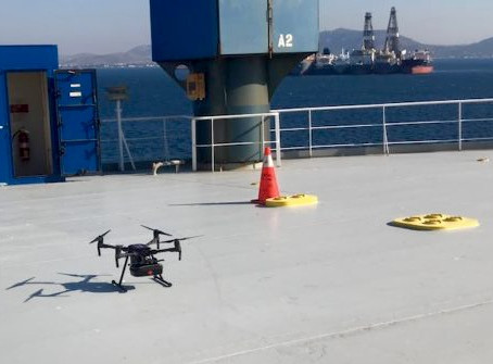 Greece: Drones trialled at Elefsis Port for delivering medical supplies to shipping