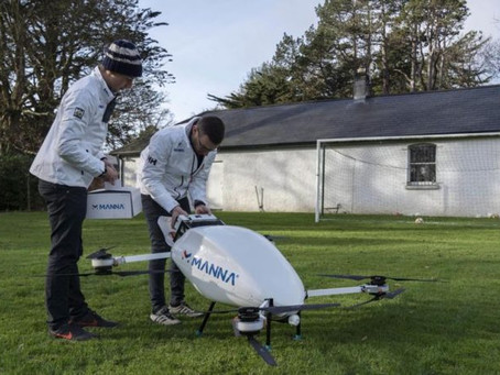 Manna latest: New major investor on-board and drone delivery trials in mainland Europe set for 2021