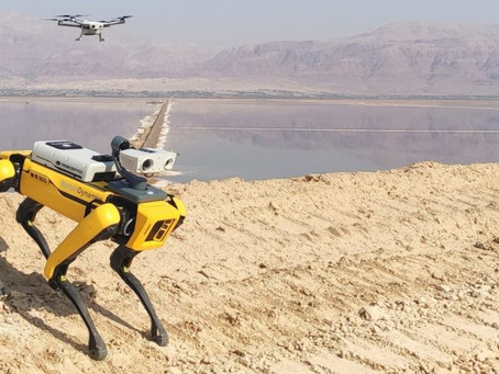 Drone and robot work autonomously together to improve security services