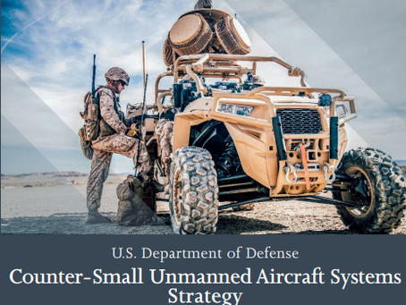 Pentagon releases new strategy for countering small unmanned aerial systems
