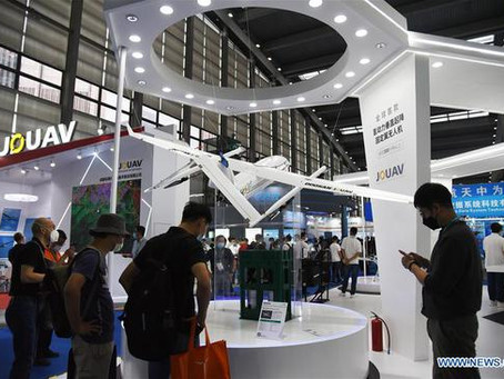 Watch Video: Over 1,000 drones on display at 2020 Drone World Congress in Shenzhen, Southern China