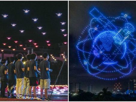 """WATCH VIDEO: Stunning, spectacular, dazzling drone light show heralds new """"Guinness Book of Records"""""""