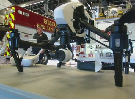 Watch video: New York Hilton fire department takes to skies with drone technology