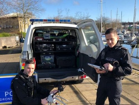 The UK: Customised police vehicle designed to house drone unit for use across Preston and Lancashire