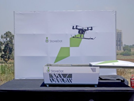 StoreDot demonstrates world's first 5-minute charge of a commercial drone