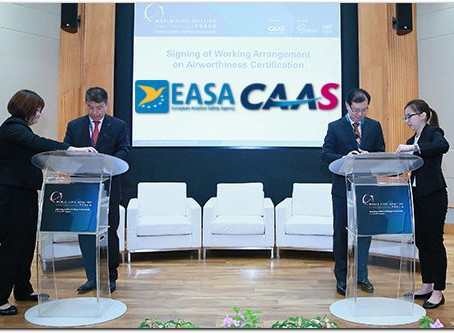 EASA and CAAS escalate co-operation to improve aircraft type certification in Singapore