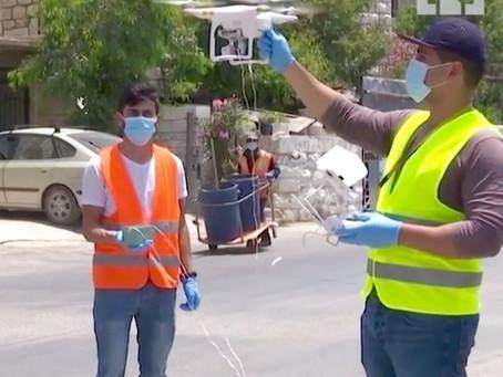 Drones help combat coronavirus in West Bank