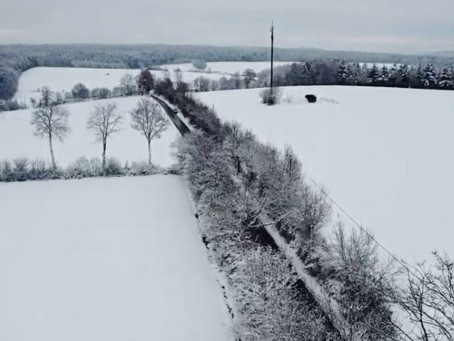 Watch drone footage of New Year snow from around the world