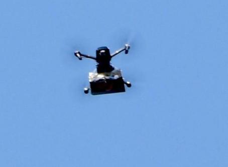 Drone delivers cannabis in Tel Aviv public square