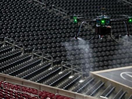 Covid-19: U.S. Football Atlanta Falcons deploy 'disinfecting drones' for sanitising team's stadium
