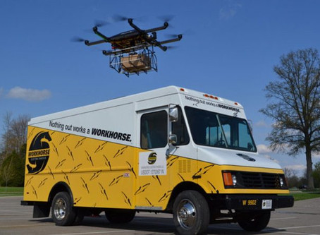 Workhorse stock soars as combining EV vans with delivery drones viewed as the future