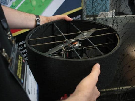 Flybotix showcase new flat motor technology drone at world's largest tradeshow