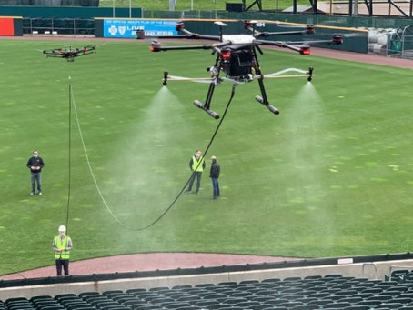 Drones may soon be disinfecting soccer stadiums and music venues in the UK