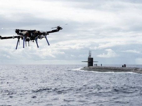 """Watch video: Drone delivers """"lobster and prime beef"""" to out-at-sea nuclear submarine dinner table"""